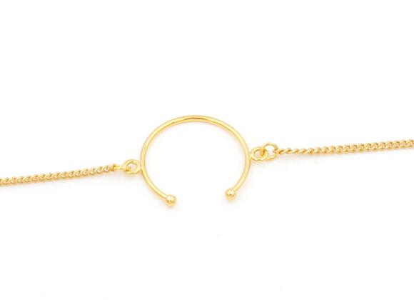 Bracelet doré à l'or fin, bijoux de créateur, made in France, chance