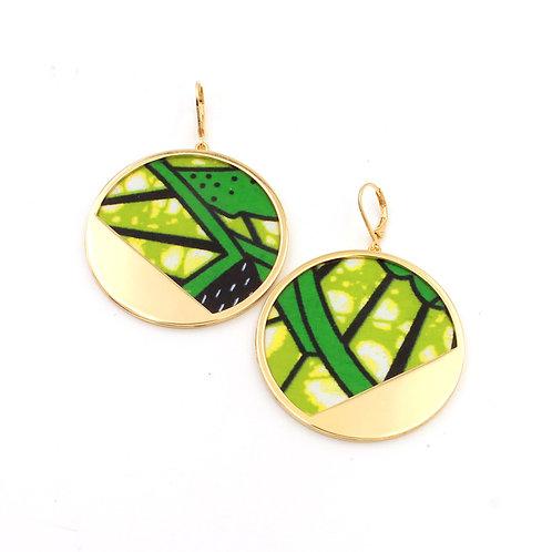 Boucles d'oreilles Lada wax vert