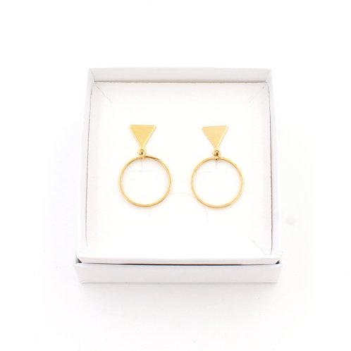 Puce dorée à l'or fin, bijoux de créateur, made in France