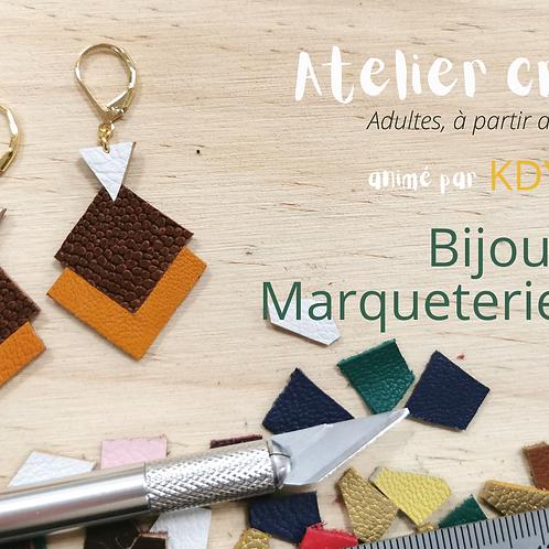5 places Atelier bijoux en cuir marqueterie