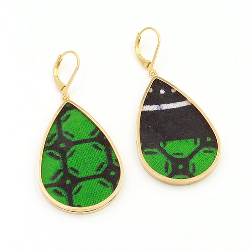 Boucles d'oreilles wax vert