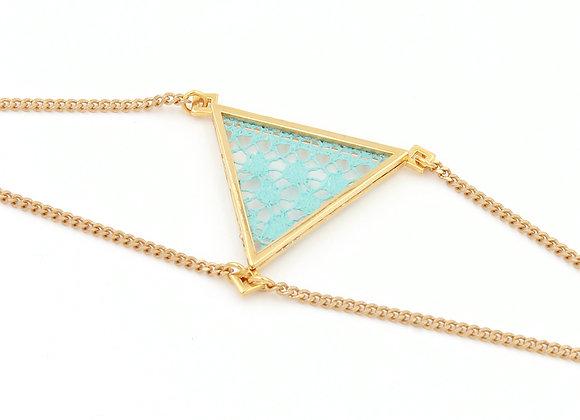Turquoise clair / doré
