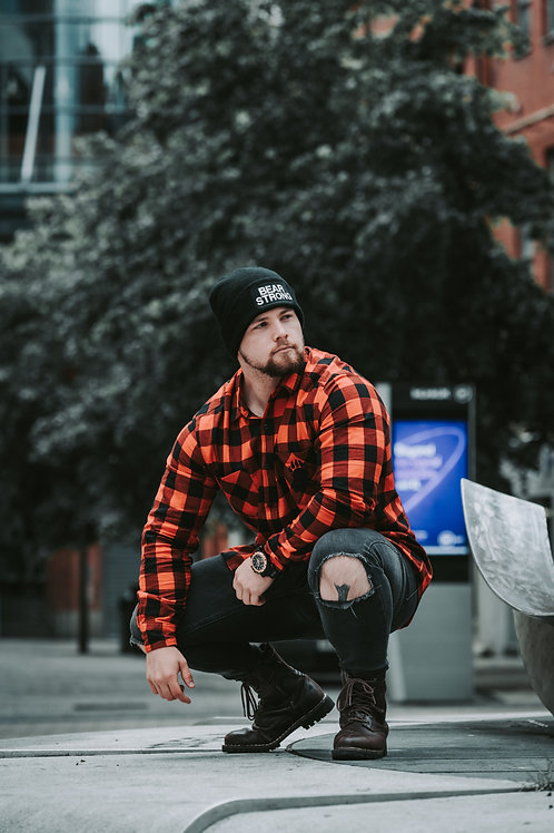 Bear Strong Beanie Hat Black