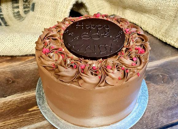 11 Luxury Dark Chocolate and Raspberry Cake (V, GF) £47.50