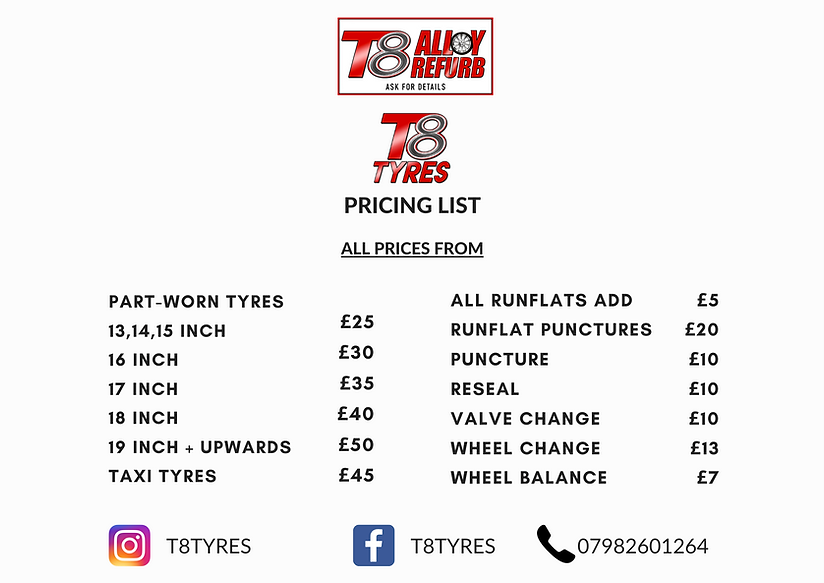 Charcoal and Red Textured Price List (1)