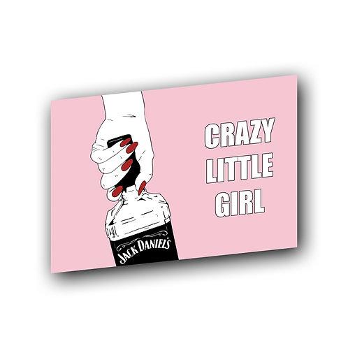 "Открытка ""Crazy girl"""