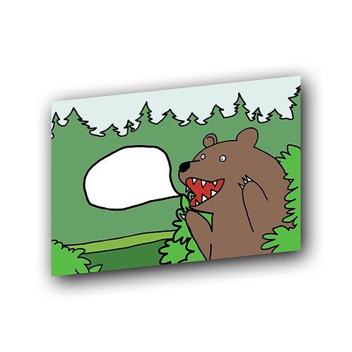 """Открытка """"Медведь"""""""