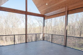 Screened Porch with Concrete Deck