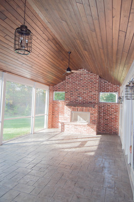 Screened Patio with Fireplace