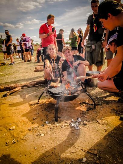 Cocina de campamento