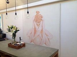 """Novis painting """"Religion"""" in Bondi residence Sydney Australia"""