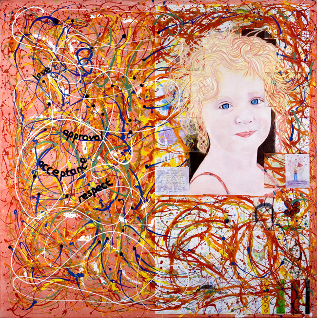 Privileged child Kayla, original painting by Barry Novis