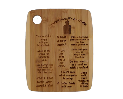 Irish Mammys Sayings Personalised Wooden Board