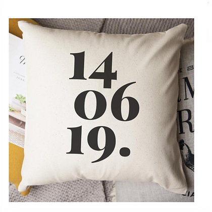 Personalised Cushion with Date