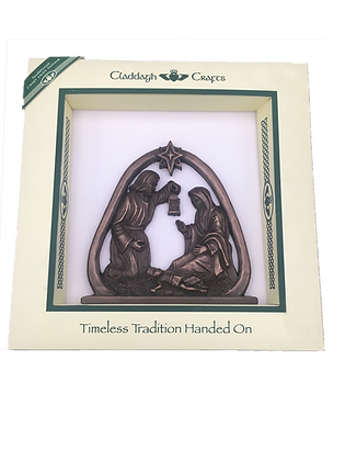 Bronze Nativity Scene Plaque