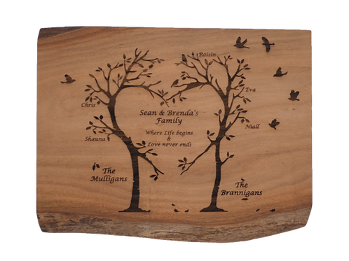 Two Families Wooden Board