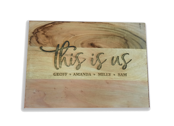 """Wooden """"This is Us"""" Board"""