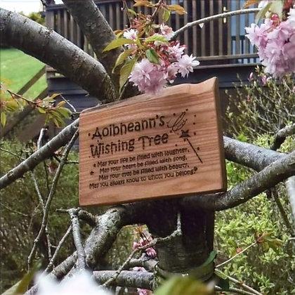 Wooden Wishing Tree Plaque