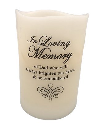 Loving Memory Battery Candle