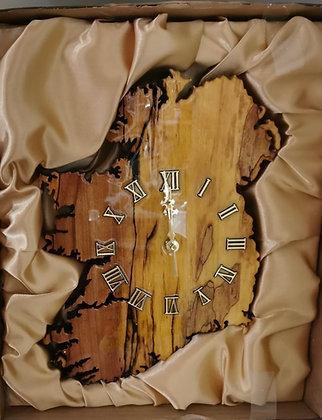 Ireland Shaped Wooden Clock
