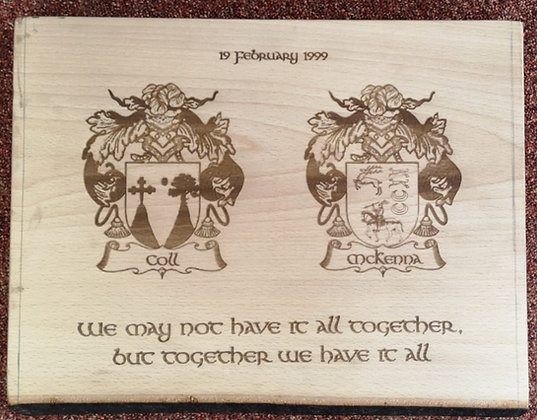 Coat of Arms Wooden Board
