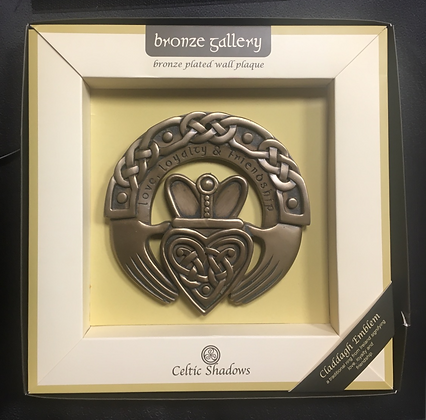 Claddagh Ring Bronze Platted Wa;; Plaque