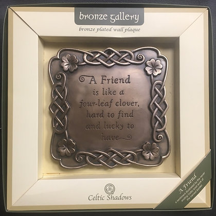 'A Friend' Bronze Plated Wall Plaque