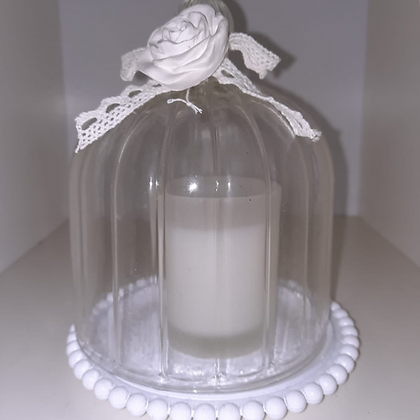 Candle and Glass Dome