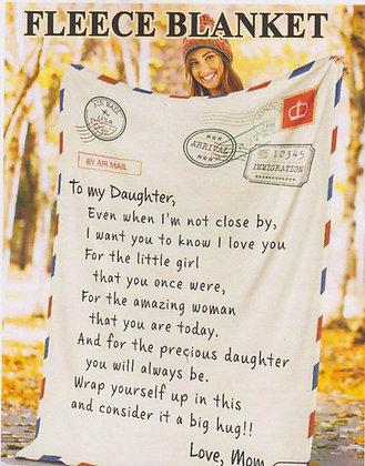 Personalised Fleeced Blanket
