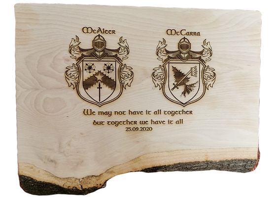 Family Crest Wooden Board