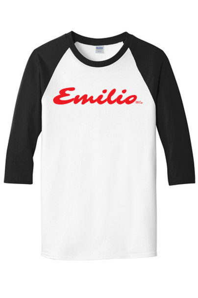 Baseball T-Shirt, Black Sleeves