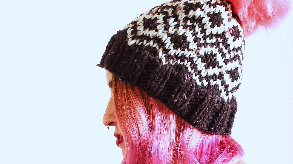 Patrón GeometricSky Hat