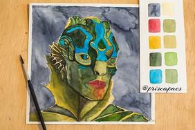 fanart ___._Não sou muito de pintar meu