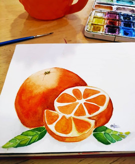 :: 🍊 :: . Comecei essa pintura há uns 0