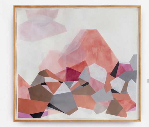 Umas sobre outras, 2017 150x170cm - Tinta acrílica sobre papel algodão