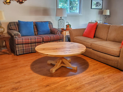 Maple Pedestal Coffee Table