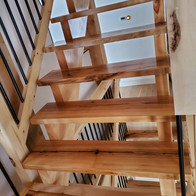 Maple Stair Treads With Pine Stringer