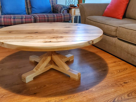 Maple Pedestal Coffee Table
