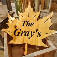 The Grays Custom Sign