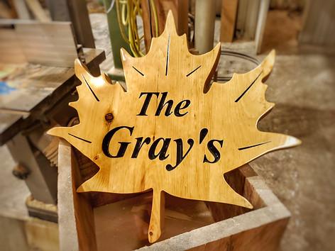 The Gray Custom Sign