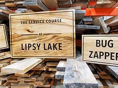 Lipsy Lake Custom Sign