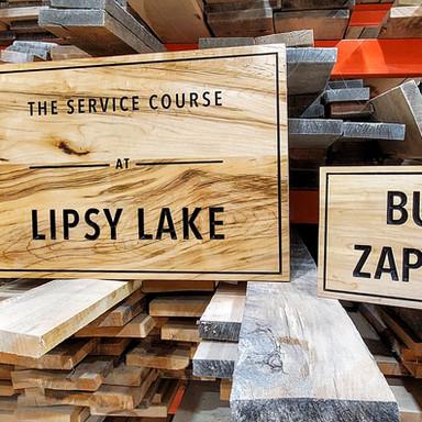 Lipsy Lake Custom Signs