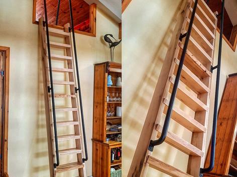 Maple Ship Ladder W/ Metal Railings