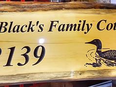 The Blacks Custom Sign
