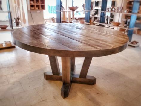 Barn Board Pedestal Table