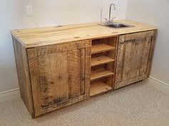 Barn Board Pine Bar W/ Sink