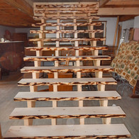 Faux Live Edge Pine Stairs