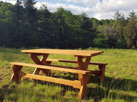 Cedar Picnic Table & Benches