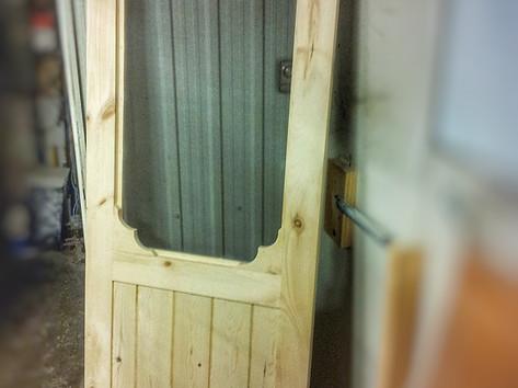 Pine Screen Door