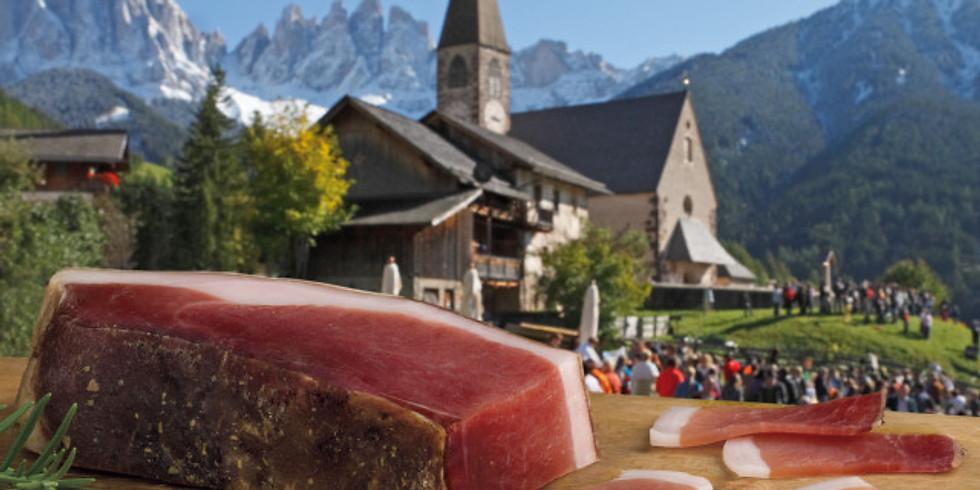 November Trentino Alto Adige menu